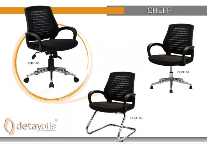 Chef qara Seriyası Ofis Kresloları