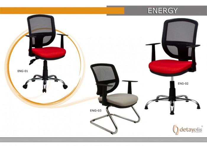 Energy qara Seriyası Ofis Kresloları